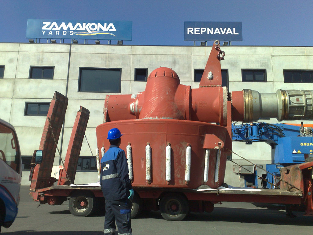 propeller-of-a-rig Zamakona-Yards